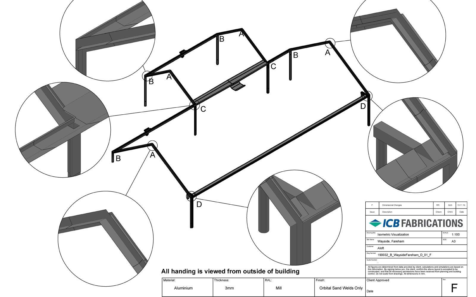 Custom Aluminium Fabrication Drawings
